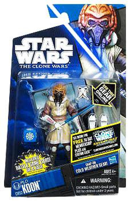Star Wars The Clone Wars Clone Wars 2011 Plo Koon Action Figure CW53 [Cold Weather Gear]