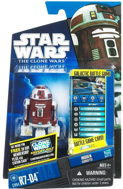 Star Wars The Clone Wars Clone Wars 2011 R7-D4 Action Figure CW64
