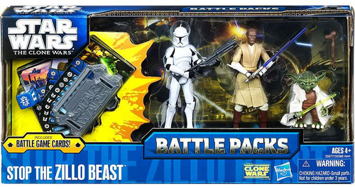 Star Wars The Clone Wars Battle Packs 2011 Stop the Zillo Beast Action Figure Set