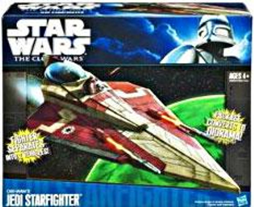 Star Wars The Clone Wars Vehicles 2011 Obi Wan's Jedi Starfighter Action Figure Vehicle