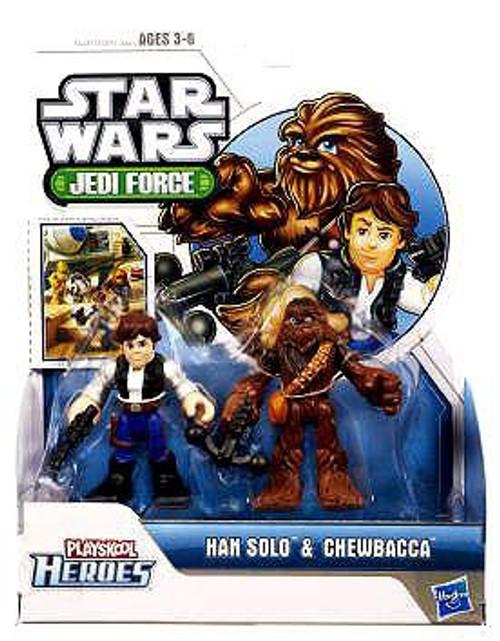 Star Wars Jedi Force Han Solo & Chewbacca Mini Figure 2-Pack