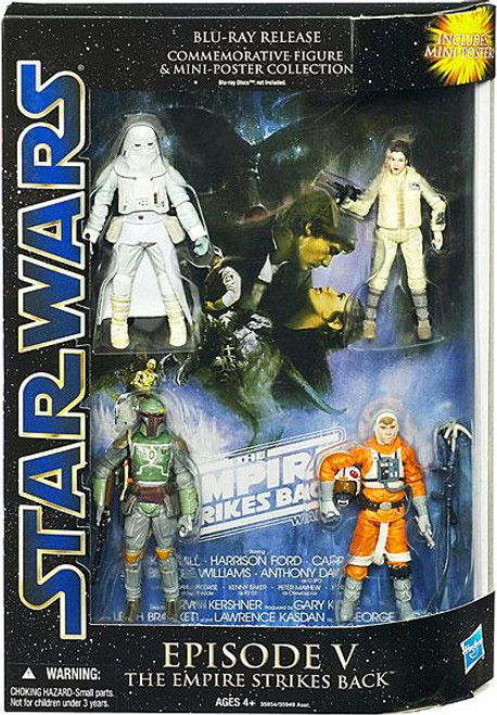 Star Wars The Empire Strikes Back DVD Collections Blu-Ray Release Commemorative Action Figure Set [Episode V]