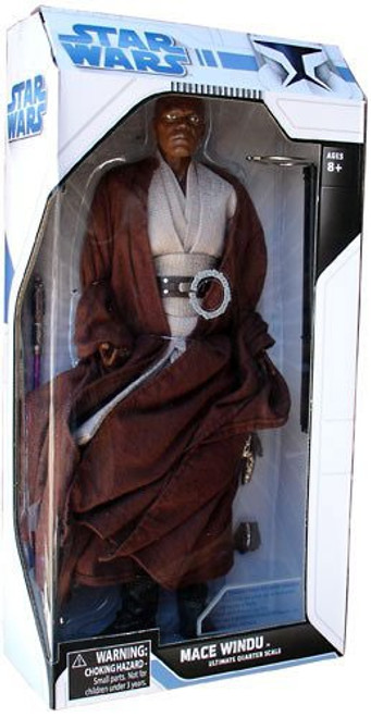 Star Wars Attack of the Clones Ultimate Quarter Scale Mace Windu Action Figure