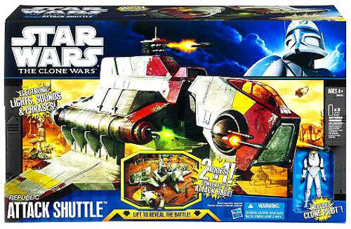 Star Wars The Clone Wars Vehicles 2011 Republic Attack Shuttle Action Figure Vehicle
