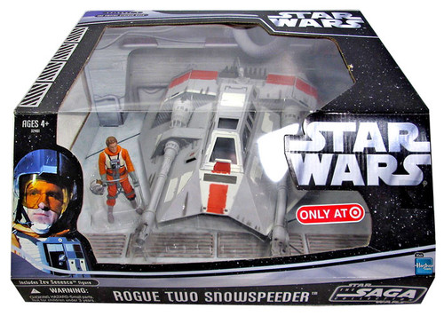 Star Wars The Empire Strikes Back 2006 Saga Collection Rogue Two Snowspeeder Exclusive Action Figure Vehicle