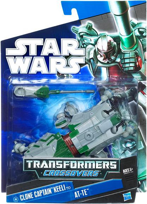 Star Wars The Clone Wars Transformers Crossovers 2010 Clone Captain Keeli to AT-TE Action Figure