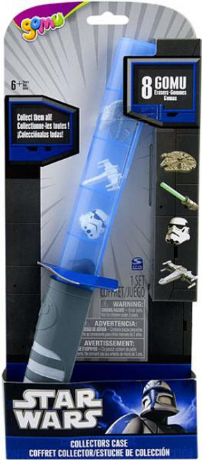 Star Wars Gomu Erasers Lightsaber Collectors Case