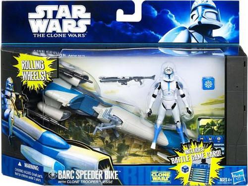 Star Wars The Clone Wars Vehicles & Action Figure Sets 2011 Barc Speeder Bike with Clone Trooper Jesse Action Figure Set