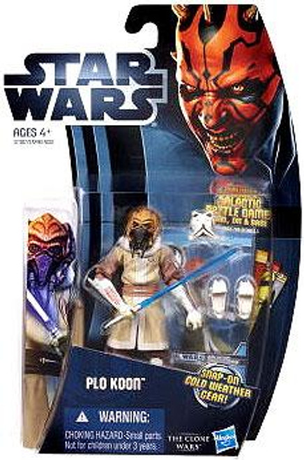 Star Wars The Clone Wars Clone Wars 2012 Plo Koon Action Figure CW06 [Cold Weather Gear]