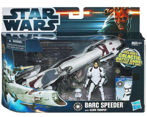 Star Wars The Clone Wars Vehicles & Action Figure Sets 2012 BARC Speeder with Clone Trooper Action Figure Set