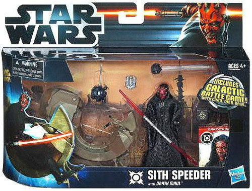 Star Wars The Phantom Menace Vehicles & Action Figure Sets 2012 Sith Speeder with Darth Maul Action Figure Set