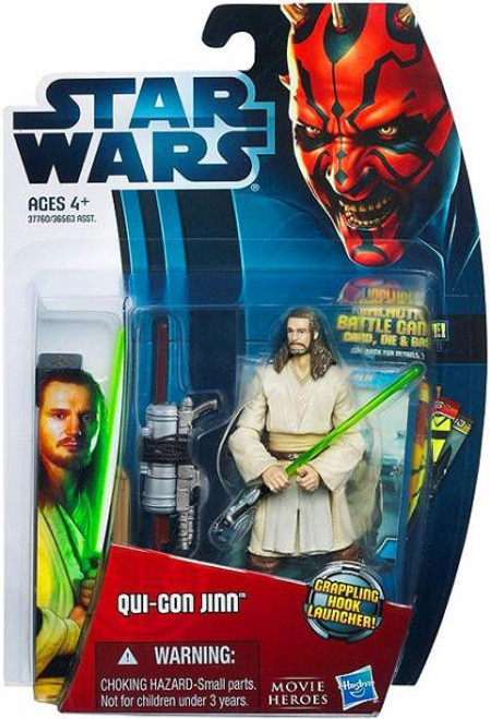 Star Wars The Phantom Menace Movie Heroes 2012 Qui-Gon Jinn Action Figure #10 [Version 1]