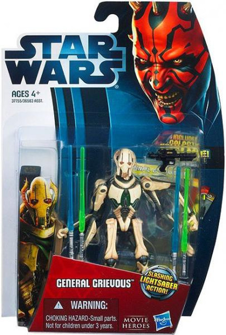 Star Wars Revenge of the Sith Movie Heroes 2012 General Grievous Action Figure #7