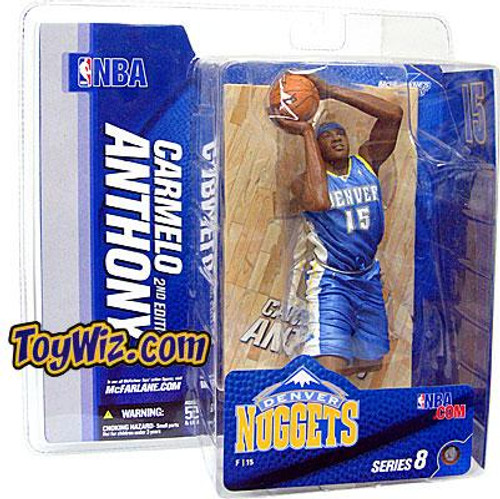 McFarlane Toys NBA Denver Nuggets Sports Picks Series 8 Carmelo Anthony Action Figure [Light Blue Jersey Variant]
