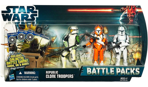 Star Wars The Clone Wars Battle Packs 2012 Republic Clone Troopers Action Figure Set