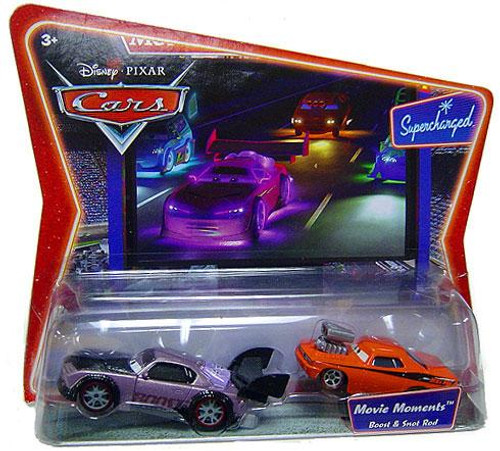 Disney Cars Supercharged Movie Moments Boost & Snot Rod Diecast Car 2-Pack