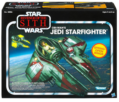 Star Wars Revenge of the Sith Vintage Collection Vehicles Obi Wan's Jedi Starfighter Action Figure Vehicle