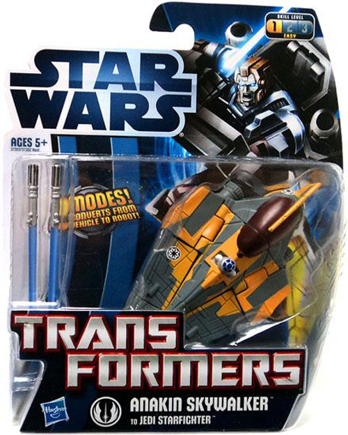 Star Wars Revenge of the Sith Transformers 2012 Anakin Skywalker to Jedi Starfighter Action Figure