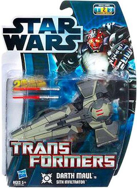 Star Wars The Phantom Menace Transformers 2012 Darth Maul to Sith Infiltrator Action Figure