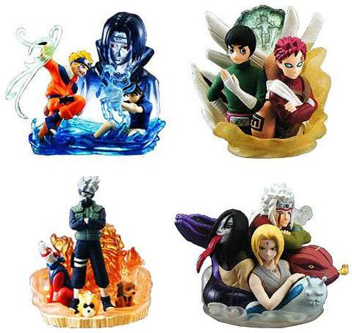Naruto Set of 4 Mini PVC Busts