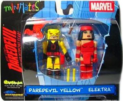 Marvel Minimates Daredevil Yellow & Elektra Minifigure 2-Pack