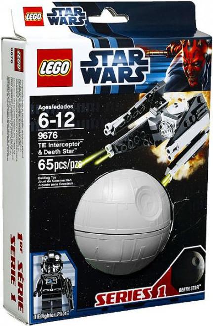 LEGO Star Wars A New Hope Planets Series 1 TIE Interceptor & Death Star Set #9676