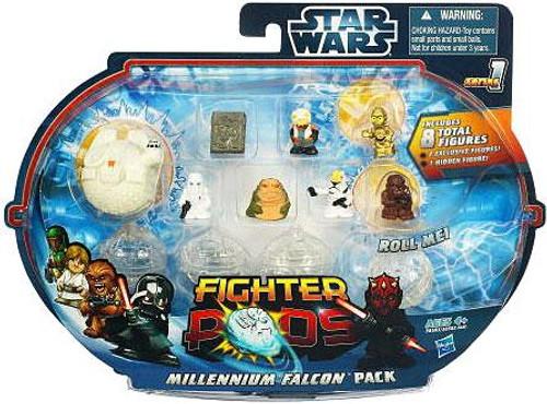 Star Wars Fighter Pods Series 1 Millennium Falcon Pack Mini Figure Pack [Class II]