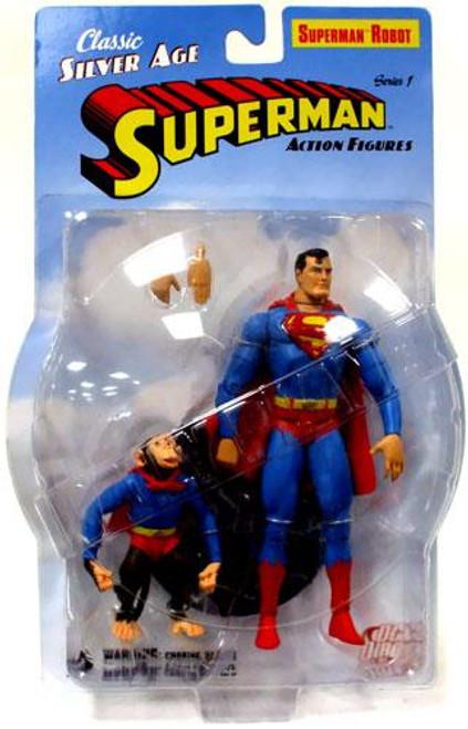 Classic Silver Age Robot Superman Action Figure