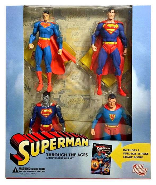 DC Superman Through The Ages Action Figure Boxed Set