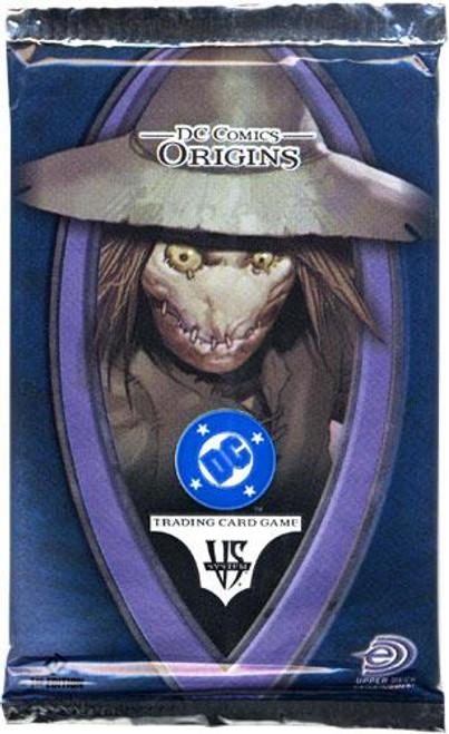 DC VS System Trading Card Game Origins Booster Pack [Sealed]