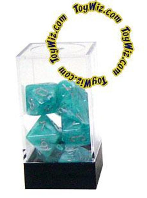 Chessex Cirrus Polyhedral Dice [Aqua w/Silver]