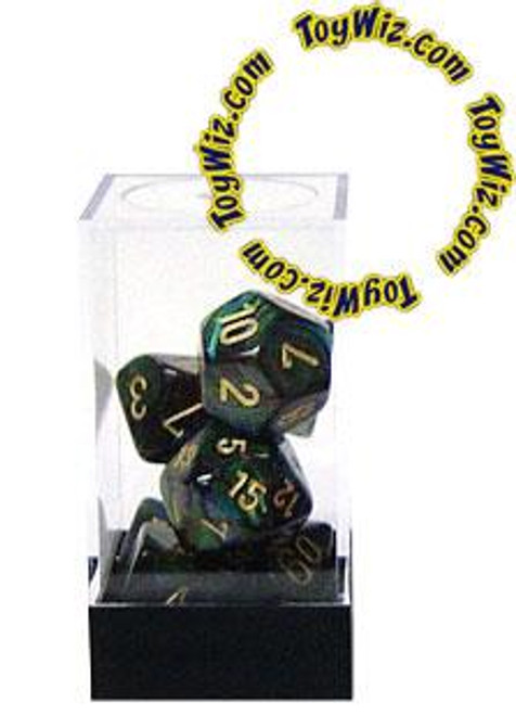 Chessex Scarab Polyhedral Dice [Jade w/Gold]