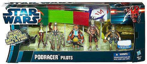Star Wars The Phantom Menace Boxed Sets 2012 Podracer Pilots Exclusive Action Figure Set