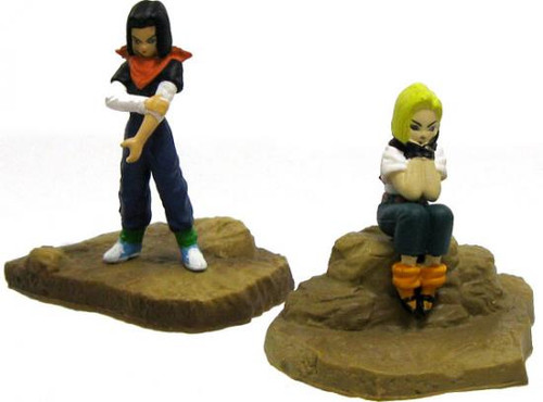 Dragon Ball Z Japanese Android 17 & Android 18 2-Inch PVC Figures