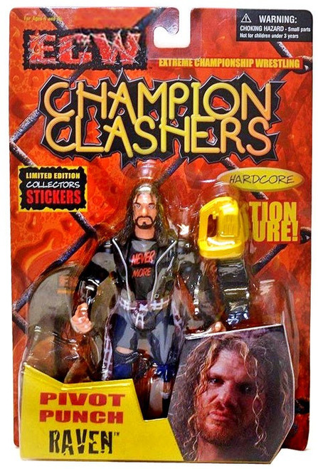 ECW Wrestling Champion Clashers Pivot Punch Raven Action Figure
