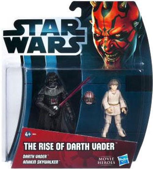 Star Wars The Phantom Menace Movie Heroes 2012 The Rise of Darth Vader Exclusive Action Figure 2-Pack [Darth Vader & Anakin Skywalker]