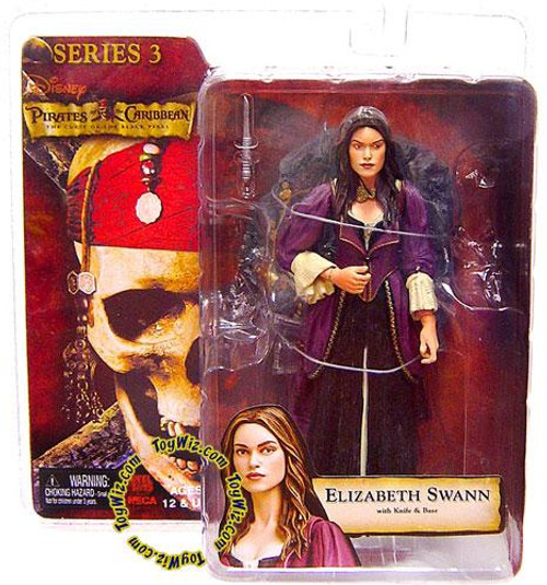 NECA Pirates of the Caribbean Curse of the Black Pearl Series 3 Elizabeth Swann Action Figure