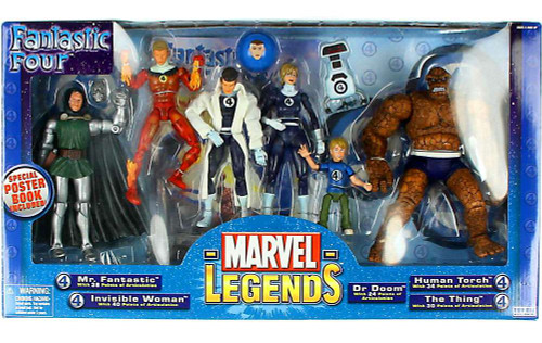 Marvel Legends Boxed Sets Fantastic Four 7-Piece Action Figure Boxed Set