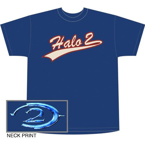 Halo 2 Blue Script Baseball Style T-Shirt [XL]