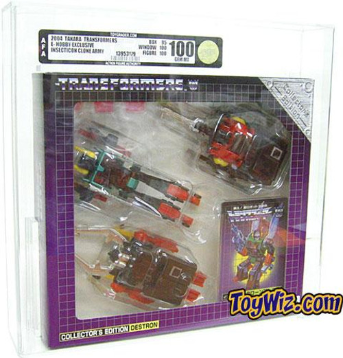 Transformers Japanese Collector's Edition Destron Diaclone Insecticon Set Action Figure Set [AFA 100] [AFA Graded 100]