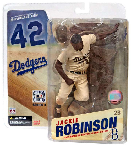 McFarlane Toys MLB Cooperstown Collection Series 3 Jackie Robinson Action Figure [Sepia Color Uniform]