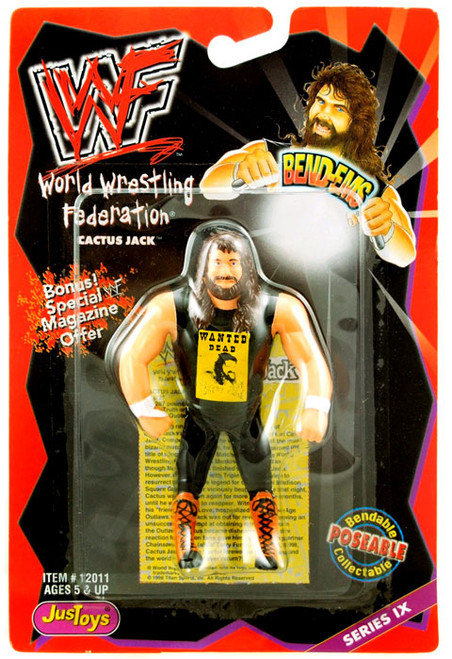 WWE Wrestling WWF Bend-Ems Series 9 Cactus Jack Action Figure