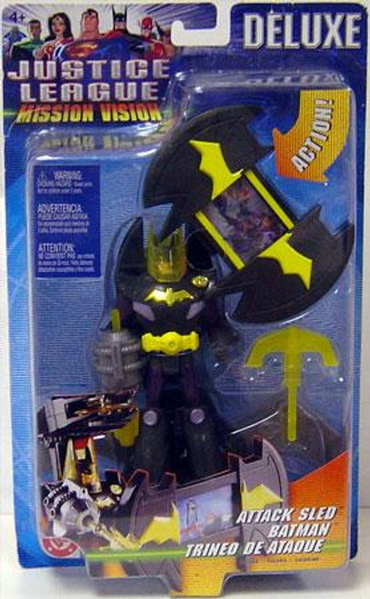 Justice League Mission Vision Batman Action Figure [Attack Sled]