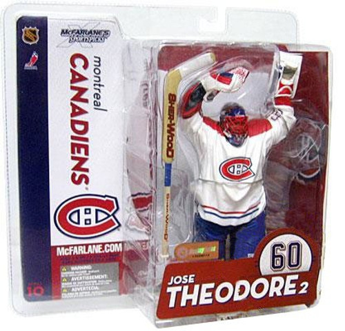 McFarlane Toys NHL Montreal Canadiens Sports Picks Series 10 Jose Theodore Action Figure [White Jersey Variant]