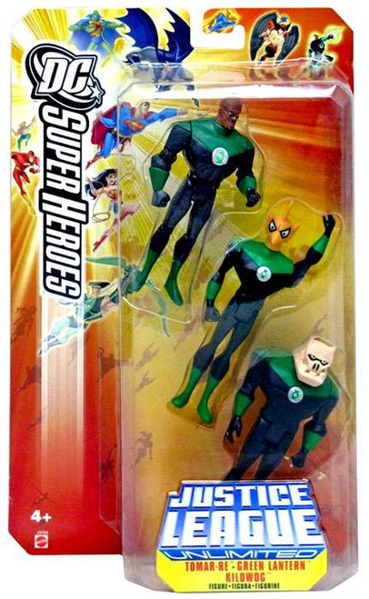 DC Justice League Unlimited Super Heroes John Stewart, Tomar Re & Kilowog Action Figures