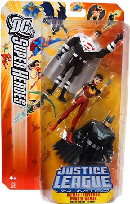 DC Justice League Unlimited Super Heroes Batman, Superman & Wonder Woman Action Figures [Justice Lords]