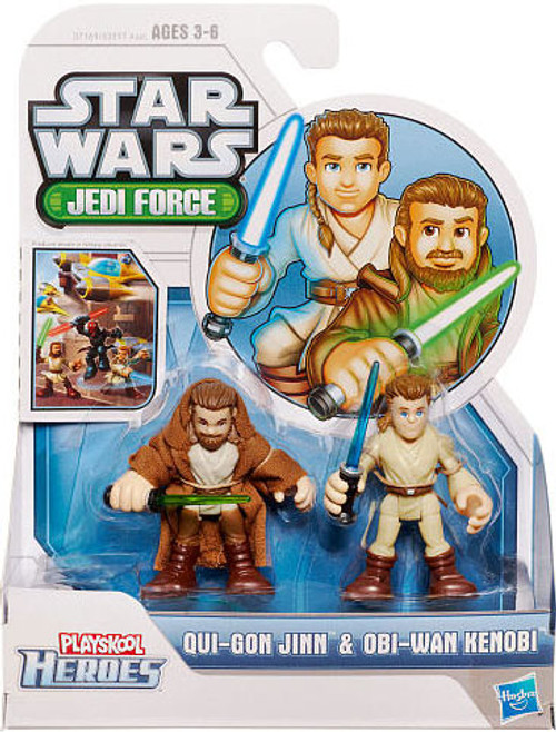 Star Wars Jedi Force Qui-Gon Jinn & Obi-Wan Kenobi Mini Figure 2-Pack