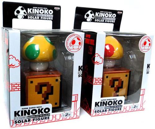 Super Mario Kinoko Solar Set of 2 Figures
