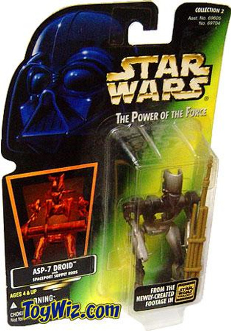 Star Wars A New Hope Power of the Force POTF2 Collection 2 ASP-7 Droid Action Figure [Hologram Card]