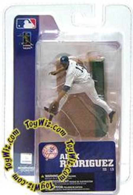 McFarlane Toys MLB New York Yankees Sports Picks 3 Inch Mini Series 3 Alex Rodriguez Mini Figure [White Jersey]
